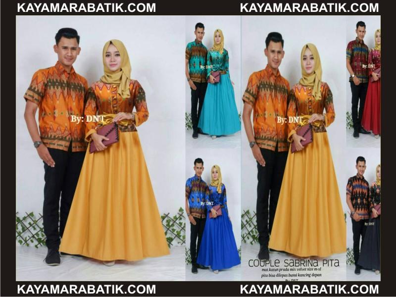 0016 Batik seragam couple Kombinasi Polos