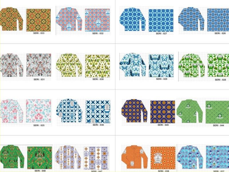 batik seragam family