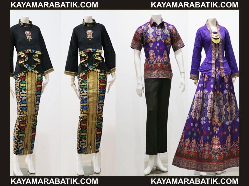 0035 model baju batik kantor wanita kombinasi