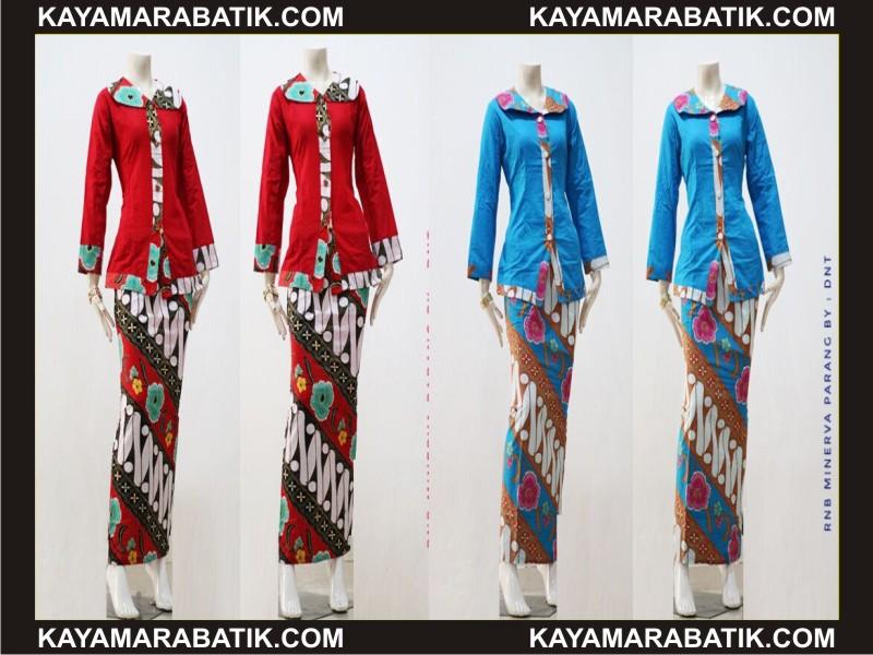 0035 model seragam batik kombinasi