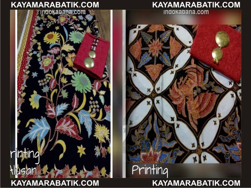 0036 A model atasan batik kombinasi kain polos