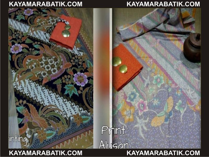 0036 C baju batik kombinasi polos modern