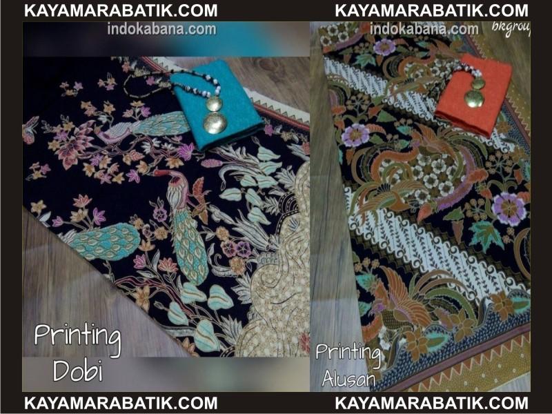 0036 batik kombinasi polos pria