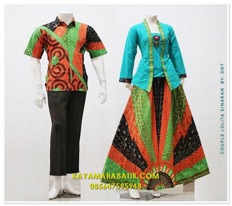 1686 batik seragam pasangan