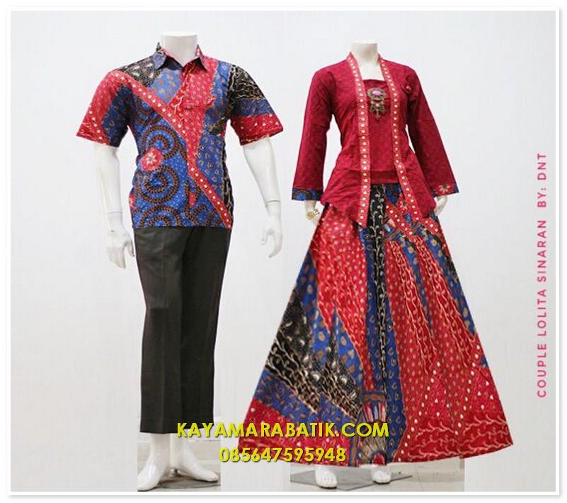 1687 batik seragam pasangan