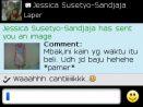 Testimoni Jessica Susetyo-Sandaja pamer baju dari kain batik