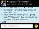 Testimoni Dhewy Rahmata pesan kain batik kawung kupu ungu