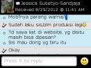Testimoni Jessica Susetyo_Sandjaya pesan kain batik biru