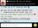 Testimoni Patrice pesan kain batik pelangi