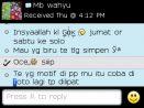 Testimoni Mbak wahyu pesan kain batik warna biru
