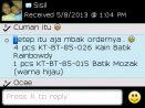 Testimoni Sisil Order Batik Kayamara