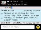 Testimoni Farida Arrozi pesan 20 lembar kain
