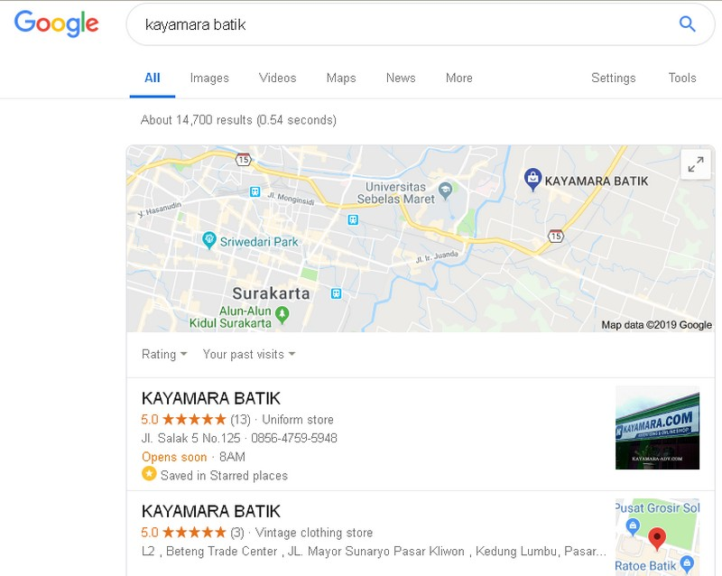 Kayamarabatik on google